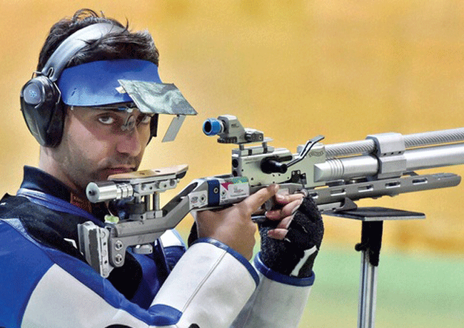 Abhinav Bindra at 8th Asian Airgun Championship in New Delhi