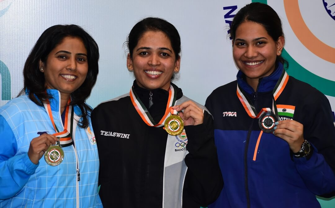 From left: Kuheli Gangulee, Tejaswini Sawant and Aditi Singh. Photo - indianshooting.com