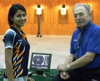 Heena with her Coach