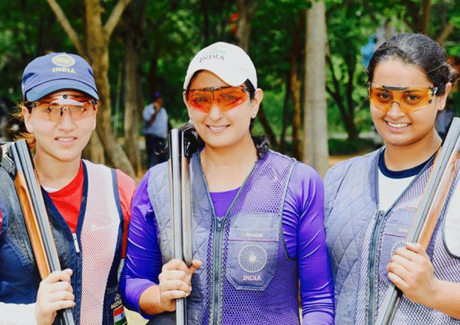 Indian Women's Trap Team